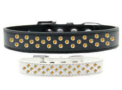 Sprinkles Dog Collar Yellow Crystals