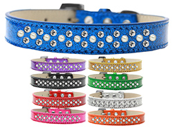 Sprinkles Ice Cream Dog Collar Pearl and Clear Crystals