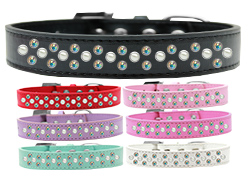 Sprinkles Dog Collar Pearl and AB Crystals