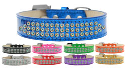 Three Row AB Crystal Ice Cream Dog Collar