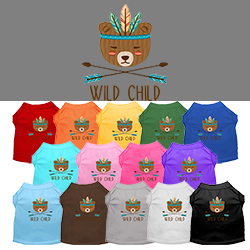 Wild Child Embroidered Dog Shirt