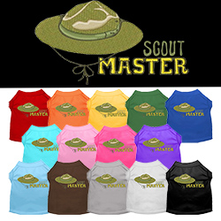 Scout Master Embroidered Dog Shirt