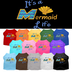 Mermaid Life Embroidered Dog Shirt