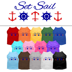 Set Sail Embroidered Dog Shirt