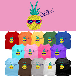 Pineapple Chillin Embroidered Dog Shirt