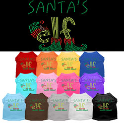 Santa's Elf Rhinestone Pet Shirt