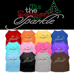 Tis the Season to Sparkle Rhinestone Pet Shirt