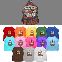Hipster Penguin Rhinestone Pet Shirt