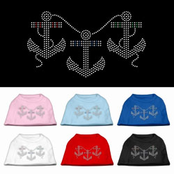 Anchors Rhinestone Pet Shirts