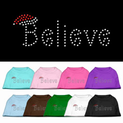 Believe Rhinestone Pet Shirts