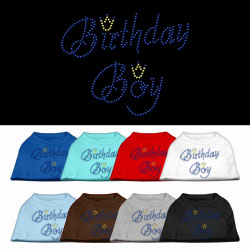 Birthday Boy Rhinestone Pet Shirts