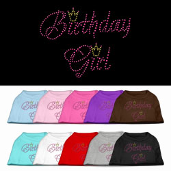 Birthday Girl Rhinestone Pet Shirt