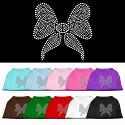 Bow Rhinestone Pet Shirts