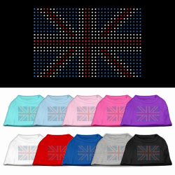 British Flag Rhinestone Pet Shirts