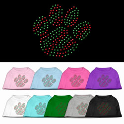 Holiday Paw Rhinestone Pet Shirts