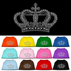 Crown Rhinestone Pet Shirts