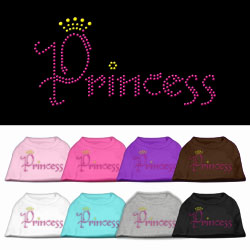 Princess Rhinestone Pet Shirts