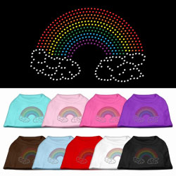 Rainbow Rhinestone Pet Shirts