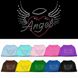 Angel Heart Rhinestone Dog Shirt