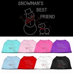 Snowman's Best Friend Rhinestone Pet Shirt
