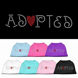 Adopted Rhinestone Pet Shirt