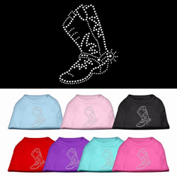 Boot Rhinestone Pet Shirts