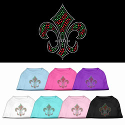 Holiday Fleur de lis Rhinestone Pet Shirts