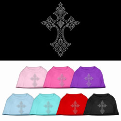 Cross Rhinestone Pet Shirts