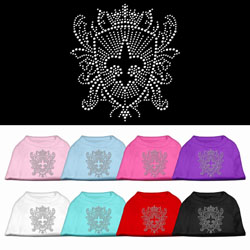 Fleur De Lis Shield Rhinestone Pet Shirts