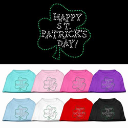 Happy St. Patrick's Day Rhinestone Pet Shirts
