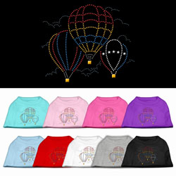Hot Air Balloon Rhinestone Pet Shirts