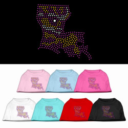 Louisiana Rhinestone Pet Shirts