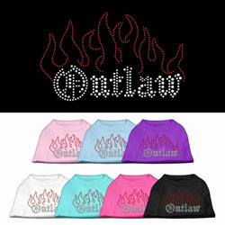 Outlaw Rhinestone Pet Shirts