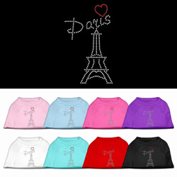Paris Rhinestone Pet Shirts