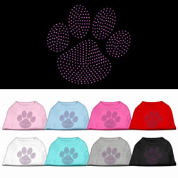 Purple Paw Rhinestud Shirts