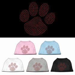 Red Paw Rhinestud Shirts