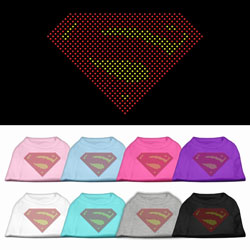 Super! Rhinestone Pet Shirts