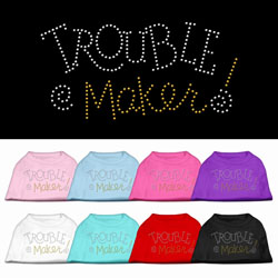 Trouble Maker Rhinestone Pet Shirts