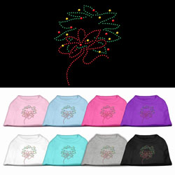 Christmas Wreath Rhinestone Pet Shirt