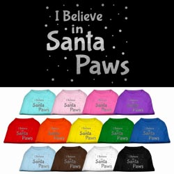 Screenprint Santa Paws Pet Shirt