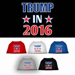 Trump in 2016 Election ScreenPrint Pet Shirts