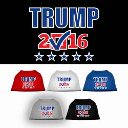 Trump Checkbox Election ScreenPrint Pet Shirts