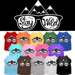 Stay Wild Screen Print Dog Shirt