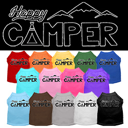 Happy Camper Screen Print Dog Shirt