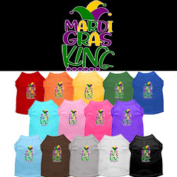 Mardi Gras King Screen Print Mardi Gras Dog Shirt