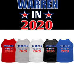 Warren in 2020 Screen Print Dog Shirt