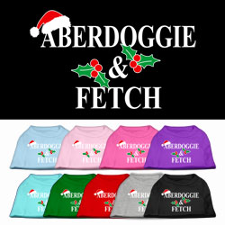 Aberdoggie Christmas Screen Print Pet Shirt
