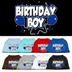 Birthday Boy Screen Print Pet Shirts