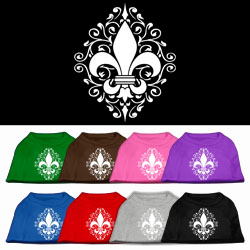 Henna Fleur De Lis Screen Print Pet Shirt