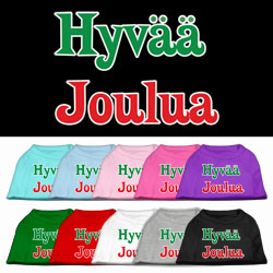 Hyvaa Joulua Screen Print Pet Shirt